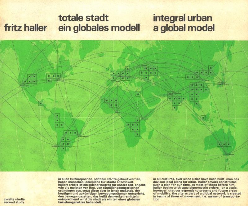 Fritz Haller, cover of publication 'Totale Stadt. Ein globales Modell / Integral Urban. A Global Model' (1975), © Fritz Haller / gta Archiv, ETH Zürich
